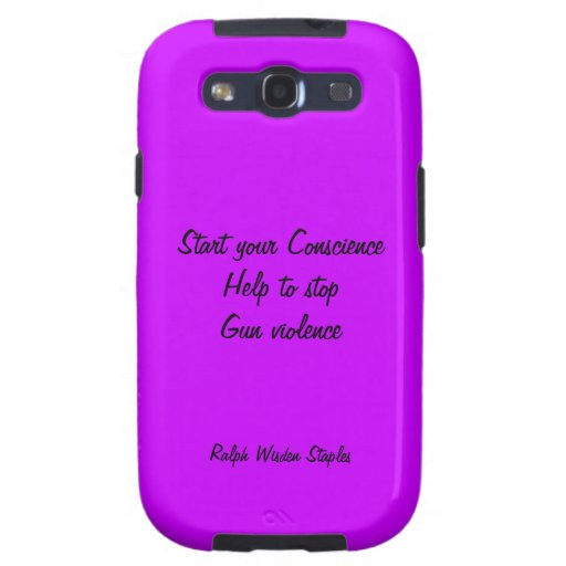 Help to stop gun violence samsung galaxy SIII cover