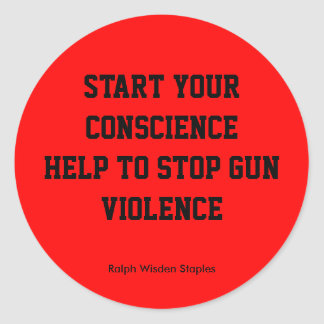 Help to stop gun violence classic round sticker