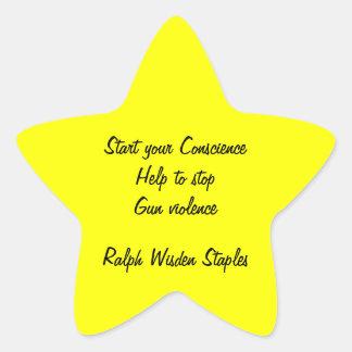 Help to stop gun violence star sticker