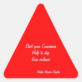 Help to stop gun violence triangle sticker