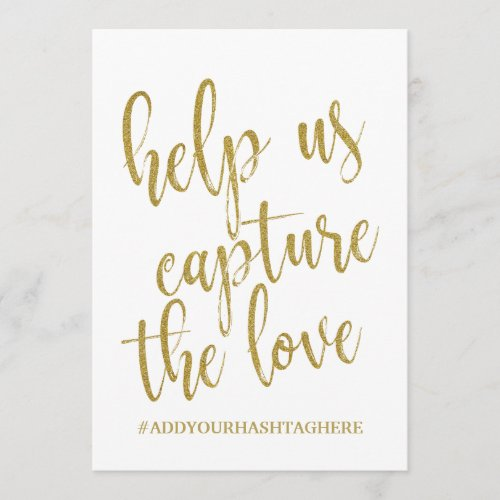 Help us Capture the Love Affordable Sign