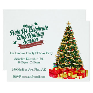 Help Us Celebrate Holiday Party Invitation
