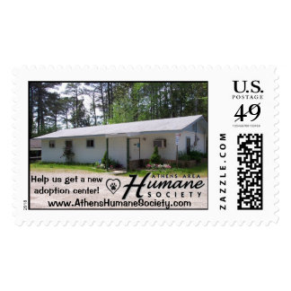 Help us get a new adoption center postage stamps