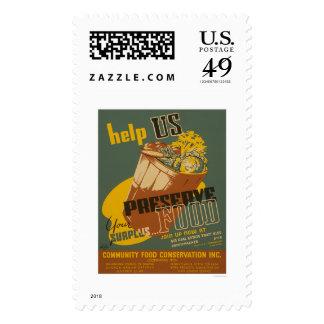 Help us Preserve your Surplus Food - WPA Stamp