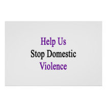Help Us Stop Domestic Violence Poster