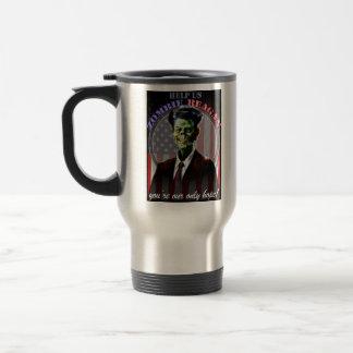 Help Us Zombie Reagan! 15 Oz Stainless Steel Travel Mug