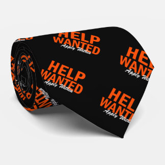 Help Wanted Apply Within Neck Tie