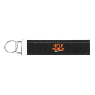 Help Wanted Apply Within Wrist Keychain