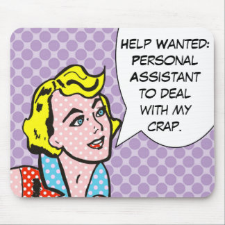 Help Wanted Comic Book Mousepad
