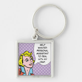 Help Wanted Funny Comic Book Keychain