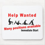 Help wanted mouse pad