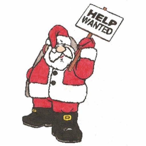 Help Wanted Santa Photo Cut Out Zazzle
