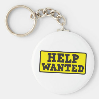 Help wanted sign keychain