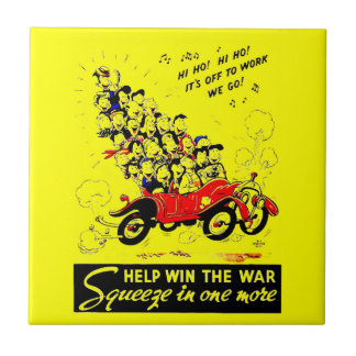 Help Win The War Ceramic Tile