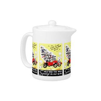Help Win The War Tea Pots Teapot