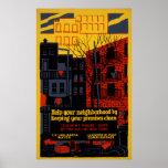 Help Your Neighborhood 1936 Vintage WPA Poster