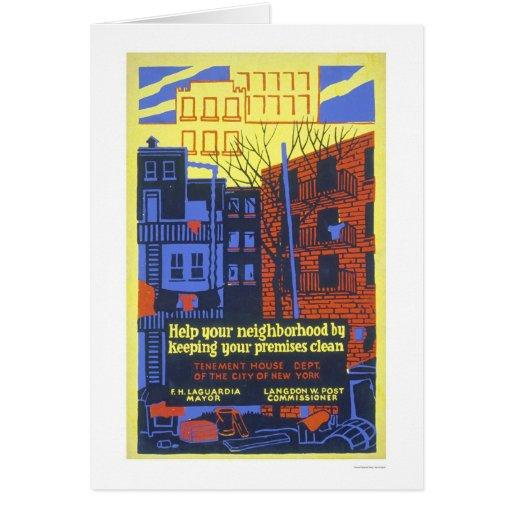 Help Your Neighborhood 1936 WPA Greeting Card