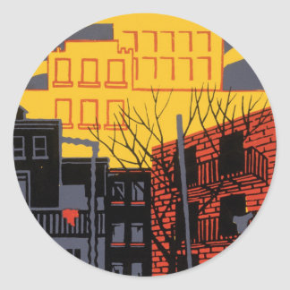 Help Your Neighborhood Classic Round Sticker