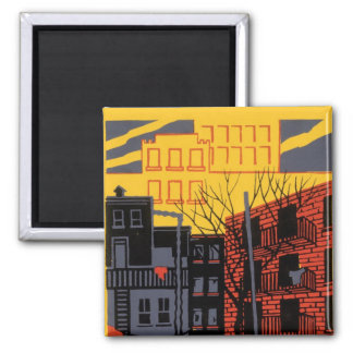 Help Your Neighborhood 2 Inch Square Magnet