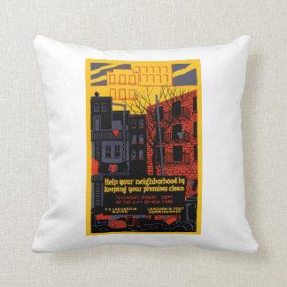 Help Your Neighborhood Throw Pillow