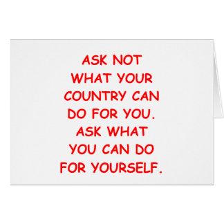 help yourself card
