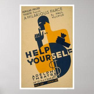 Help Yourself Farce 1936 WPA Poster