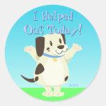 Helpful Dog Reward Stickers