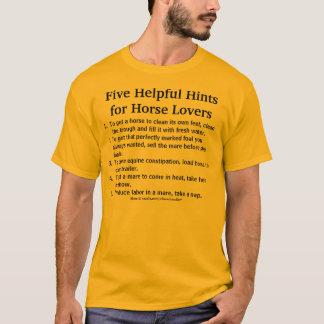 Helpful Horse Hints T-Shirt