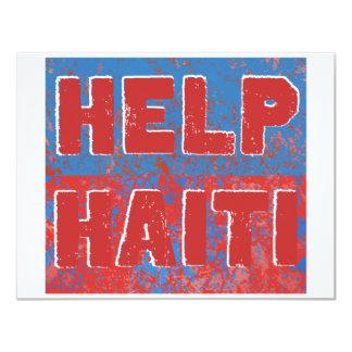 "HelpHaiti 4.25"" X 5.5"" Invitation Card"