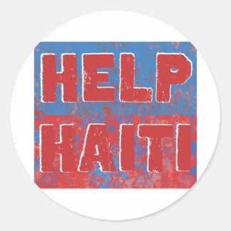 HelpHaiti Round Stickers