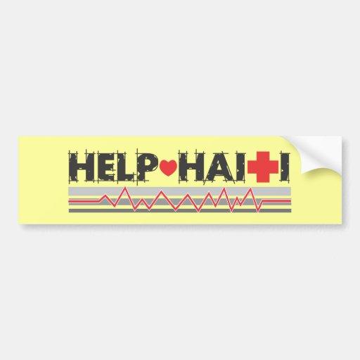 HelpHaitiText2.ai Bumper Stickers