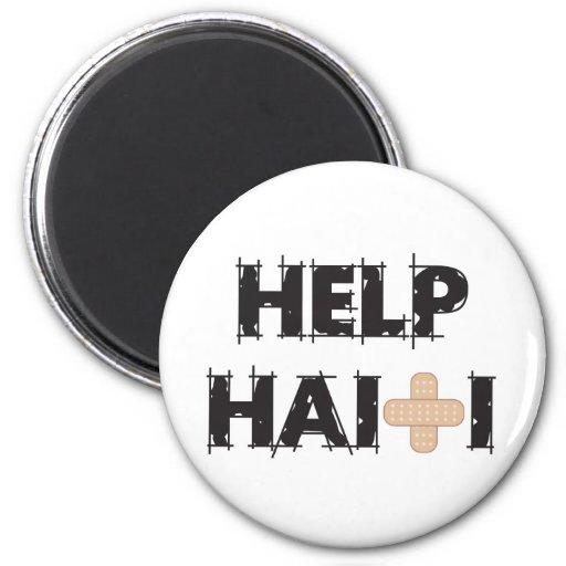 HelpHaitiText4.ai Imán Redondo 5 Cm