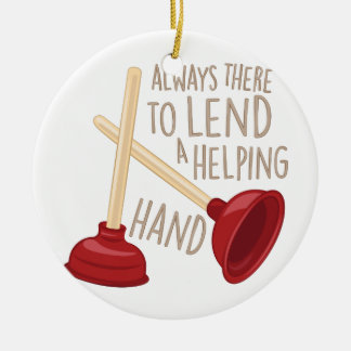 Helping Hand Ceramic Ornament