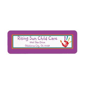 Helping Hand Child Care Return Label Return Address Label
