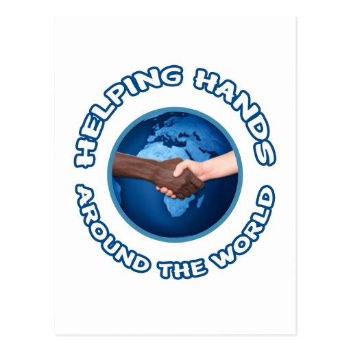 Helping Hands Around the World Postcard