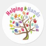 Helping Hands Classic Round Sticker