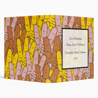 Helping Hands Collage Fun Wedding Keepsake 3 Ring Binder