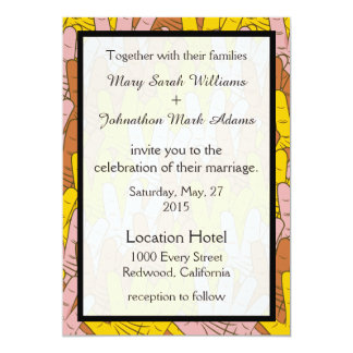 Helping Hands Collage Wedding Invitation