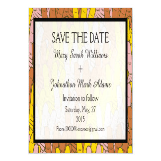 Helping Hands Pattern Wedding Save The Date Magnetic Invitations