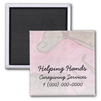 Helping Hands Pink Light Fridge Magnet