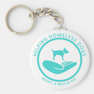 """""""Helping Homeless Dogs"""" Keychain"""