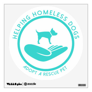 """""""Helping Homeless Dogs"""" Wall Decal"""