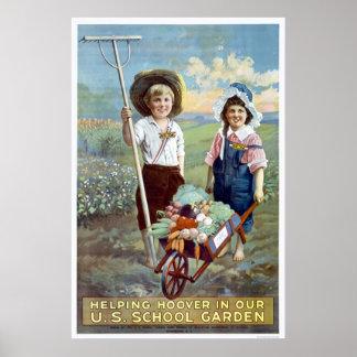 Helping Hoover in our U.S. School Garden Print