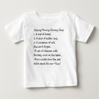 Helping Mommy Grocery Shop Memories Baby T-Shirt