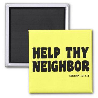 Helping Neighbors (Mark 12:31): hurricanesupport Magnet