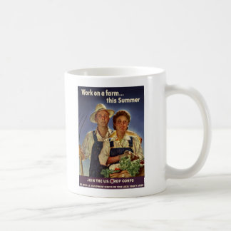 Helping on the Farm Conservation During WWII Coffee Mugs