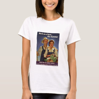 Helping on the Farm Conservation During WWII T-Shirt