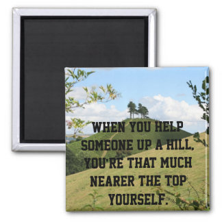 Helping Others 2 Inch Square Magnet