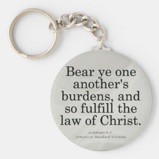 Helping Others in Christ Galatians 6-2 Keychain