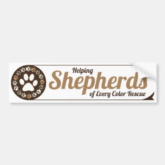 Helping Shepherds Bumper Sticker - IMPROVED!